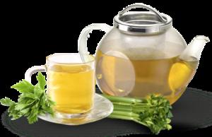 دمنوش کرفس و چای سبز برای چربی سوزی