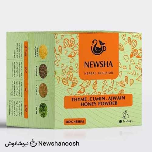 چای نیوشا - دمنوش حس خوب زندگی - دمنوش ترکیبی نیوشا
