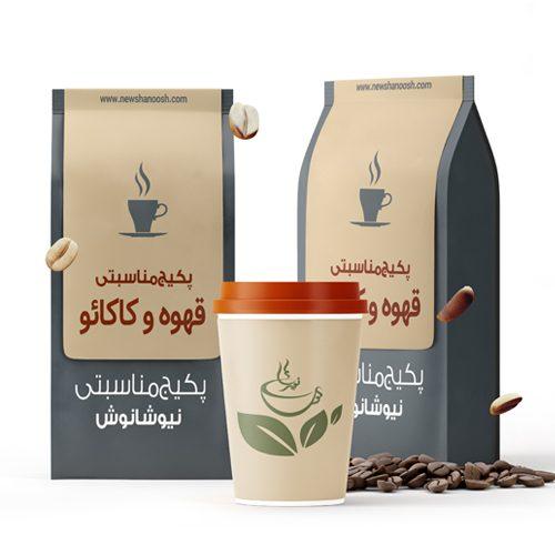 پک پذیرایی قهوه و کاکائو نیوشا پودر قهوه شکلات داغ هات چاکلت نیوشا