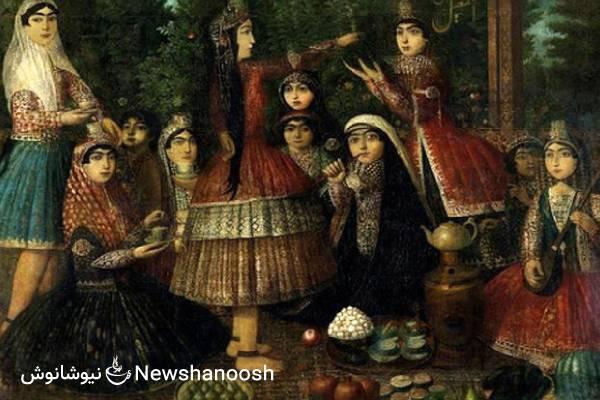مهمانی چای قدیمی - مهمانی چای دوران قاجار - تی پارتی قاجار